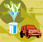 car fueling biofuel